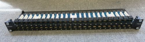 HellermannTyton AP48HD1U\CAT5E 48 Port Eco Cat5e Patch Panel - 1u New